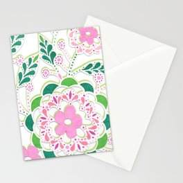 Pink Floral Lace Stationery Cards