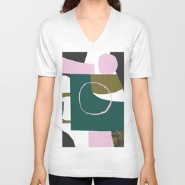 Abstract Damage Unisex V-Neck