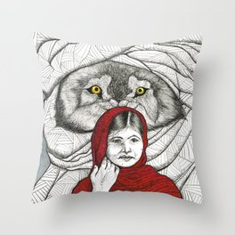 What Big Eyes You Have Throw Pillow