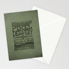 Handwriting: Pixel Delivery Stationery Cards