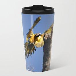 Birds from Pantanal Arara Canindé Metal Travel Mug