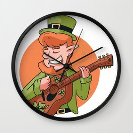 leprechaun guitarist  Wall Clock