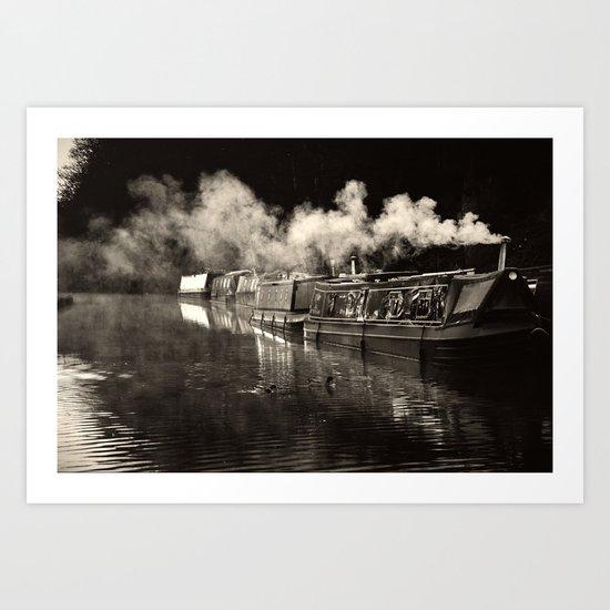 First Light, Black & White Art Print