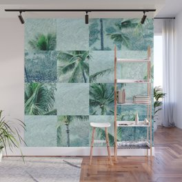 Palm tree mosaic Wall Mural