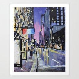 Evening Lights of the Burgh Art Print