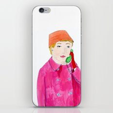 Doris Day on the phone iPhone & iPod Skin