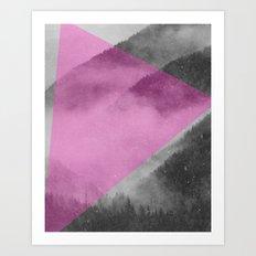 NEON NATURE | Pink Art Print