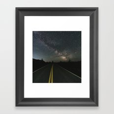 Galactic Road Trip Framed Art Print