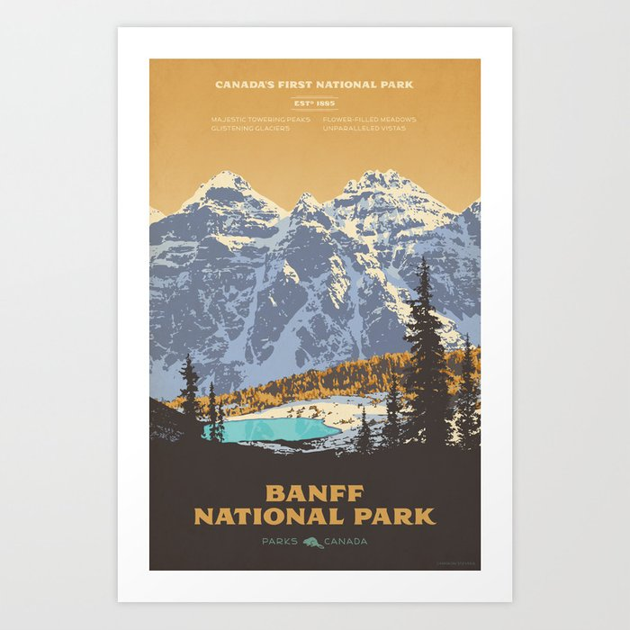 Banff National Park Kunstdrucke