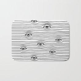 PEEPING TOM [BLK & WHT] Bath Mat