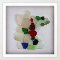 Beach Glass Minnesota Art Print