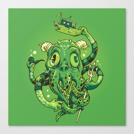 Sir Charles Cthulhu Canvas Print
