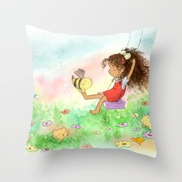 The Bumble-Dragons Are Out Throw Pillow