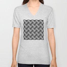 Geometric Pattern #193 (black gray circles) Unisex V-Neck