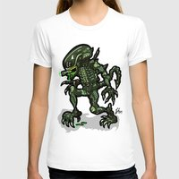 xenomorph T-shirts featuring Xenophobe?  Well, yeah...  This Alien spits acid! The Aliens Xenomorph Alien! by beetoons