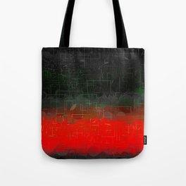 Dark Red Black Emerald  Multi-Pattern Overlay Design Tote Bag