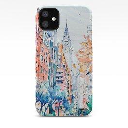 Lexington Avenue, Manhattan, New York, Watercolor painting iPhone Case