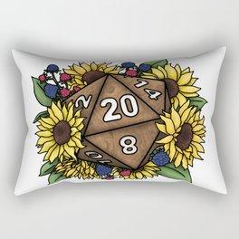 Sunflower D20 Tabletop RPG Gaming Dice Rectangular Pillow