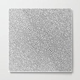 PATTERD HARING Metal Print