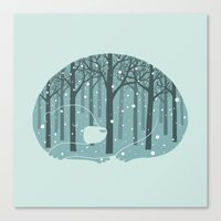 ilovedoodle Canvas Prints featuring Hibearnation by ilovedoodle by I Love Doodle