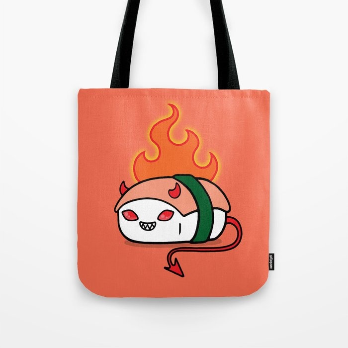 Y Devil Tuna Tote Bag