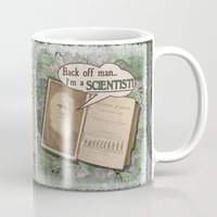 """darwin Mugs featuring Charles Darwin: """"Back off man, I'm a SCIENTIST!"""" by ImpART by Torg"""