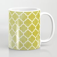 morocco Mugs featuring MOROCCO - MUSTARD by pike design