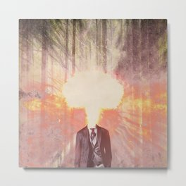 Headless man in the woods Metal Print