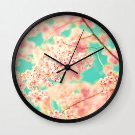 Pink Braids Wall Clock