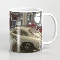 porsche Mugs featuring Porsche Garage by Premium