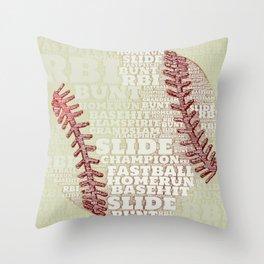 Baseballs and Slides Throw Pillow
