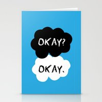 tfios Stationery Cards featuring TFIOS Okay Clouds by digital detours