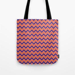 Orange and purple clemson chevron stripes university college alumni football fan gifts Tote Bag
