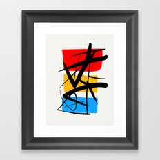 Synchronicity Abstract Art Minimalist in the zen spirit Framed Art Print