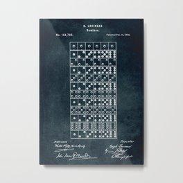 1873 - Dominoes patent art Metal Print