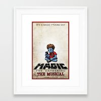 magic the gathering Framed Art Prints featuring Magic The Gathering The Musical by Molly Coffee