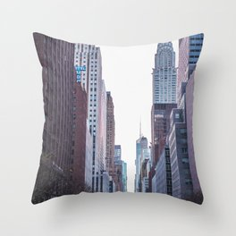 Streets of New York City Throw Pillow