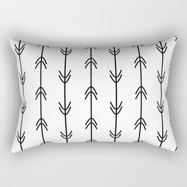Arrow Pattern Black and White Rectangular Pillow