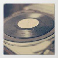 vinyl Canvas Prints featuring Vinyl  by Caroline Mint