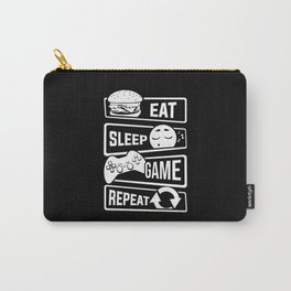 Eat Sleep Game Repeat   Video Game Console Gaming Carry-All Pouch