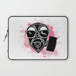 Cool gas mask with sunglases Laptop Sleeve