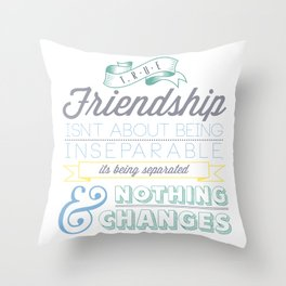 True Friendship Throw Pillow