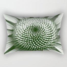 Black and White Flower Core Rectangular Pillow