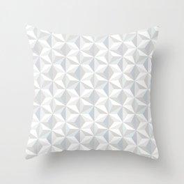 White geometry Throw Pillow