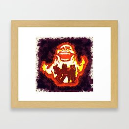 Pumpkin carving Ghost Busters  Framed Art Print