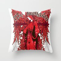 religion Throw Pillows featuring My religion by Tshirt-Factory