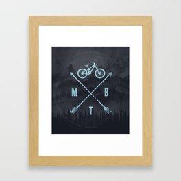 Downhill MTB Framed Art Print
