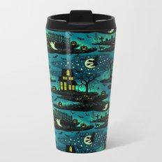 Halloween Night - Fox Fire Green Metal Travel Mug