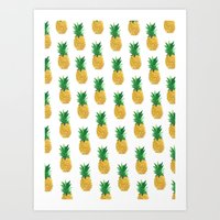 pineapples Art Prints featuring Pineapples by millymay2