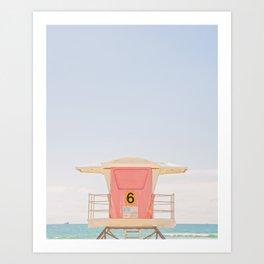 Lifeguard Tower. No. 6 Art Print